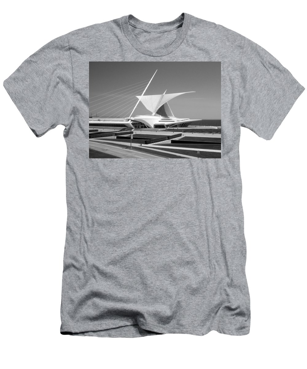 Mam Men's T-Shirt (Athletic Fit) featuring the photograph Mam In Bw by Anita Burgermeister