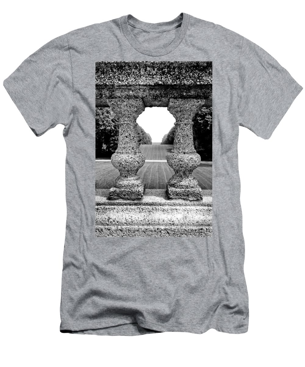 Stone Men's T-Shirt (Athletic Fit) featuring the photograph Man Frames Nature by Greg Fortier