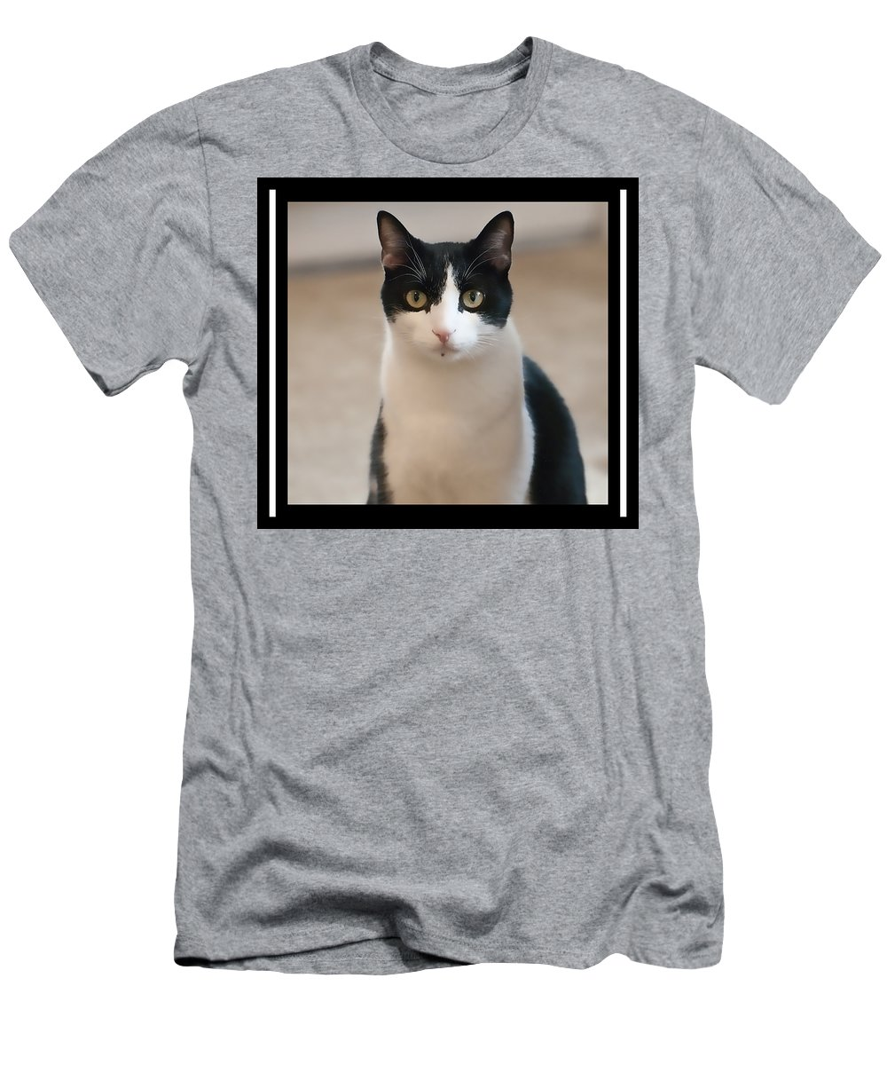 Cat Men's T-Shirt (Athletic Fit) featuring the photograph Man Of The House by Sheri Bartoszek
