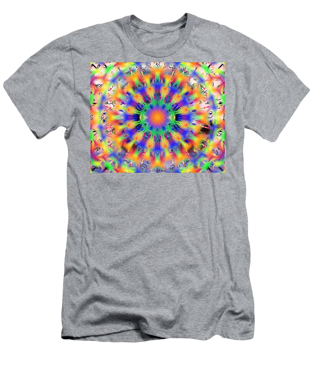Mandala 4 Men's T-Shirt (Athletic Fit) featuring the digital art Mandala 4 by Catherine Lott