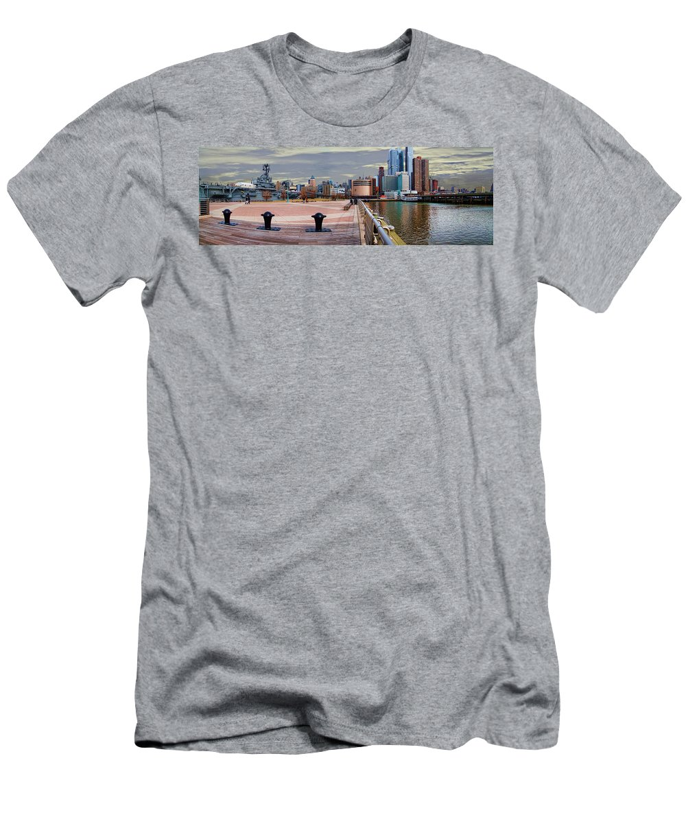 Manhattan Men's T-Shirt (Athletic Fit) featuring the photograph Manhattan West Side Panorama by Chris Lord