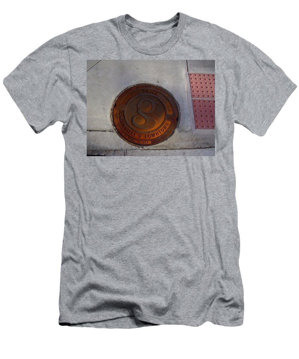 Manhole Men's T-Shirt (Athletic Fit) featuring the photograph Manhole I by Flavia Westerwelle