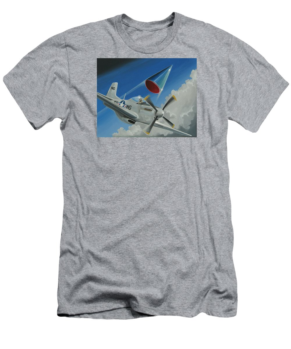 Ufo Men's T-Shirt (Athletic Fit) featuring the painting Mantell Incident by Stuart Swartz