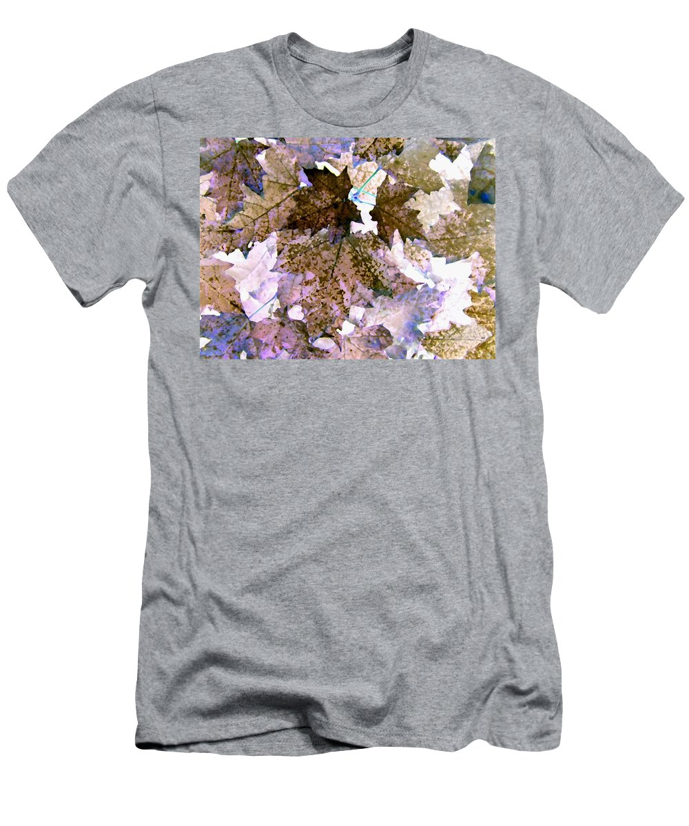 Maple Leaves Men's T-Shirt (Athletic Fit) featuring the digital art Maple Mania 25 by Will Borden