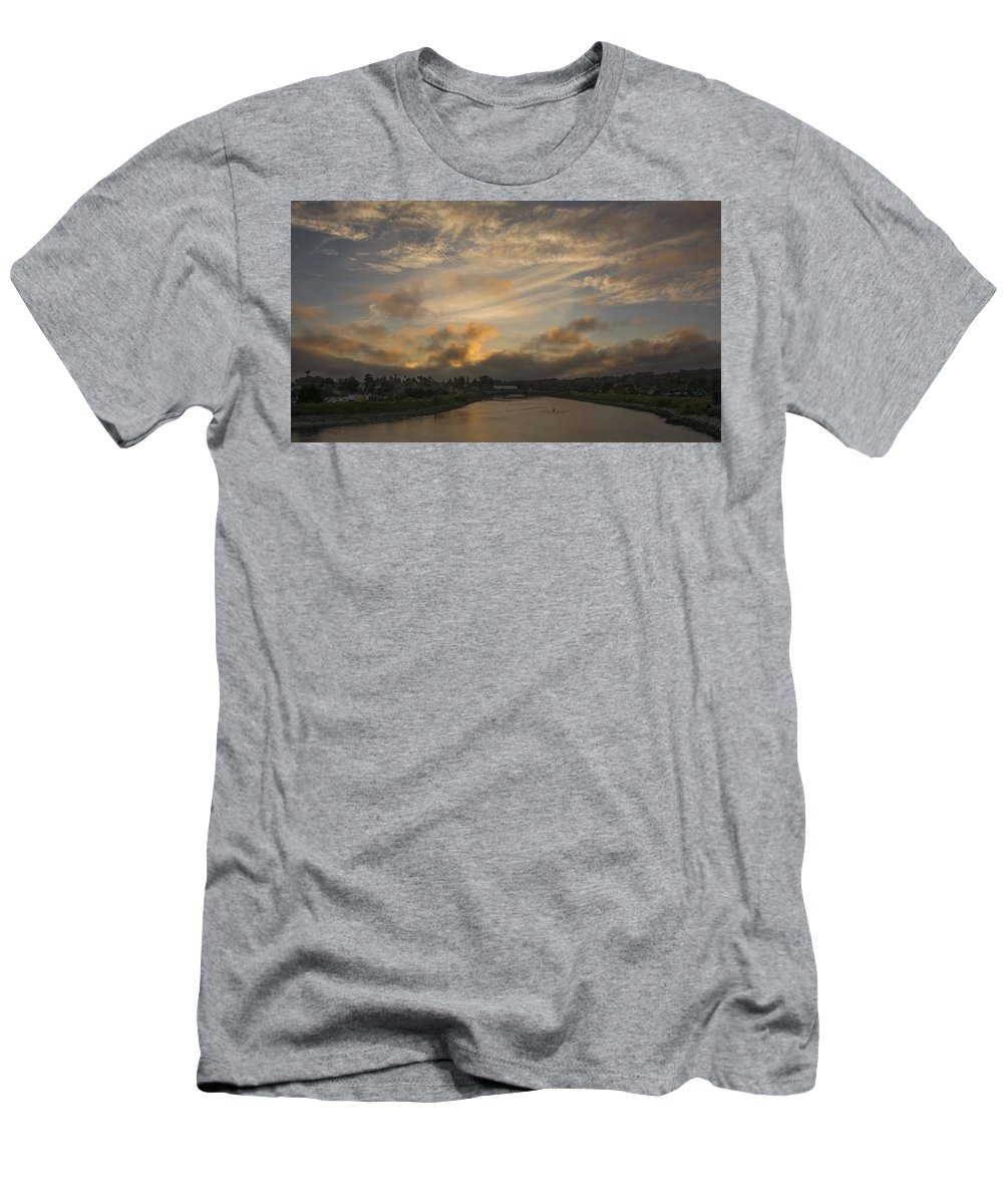 Sunset Men's T-Shirt (Athletic Fit) featuring the photograph March Sunset by Bruce Frye