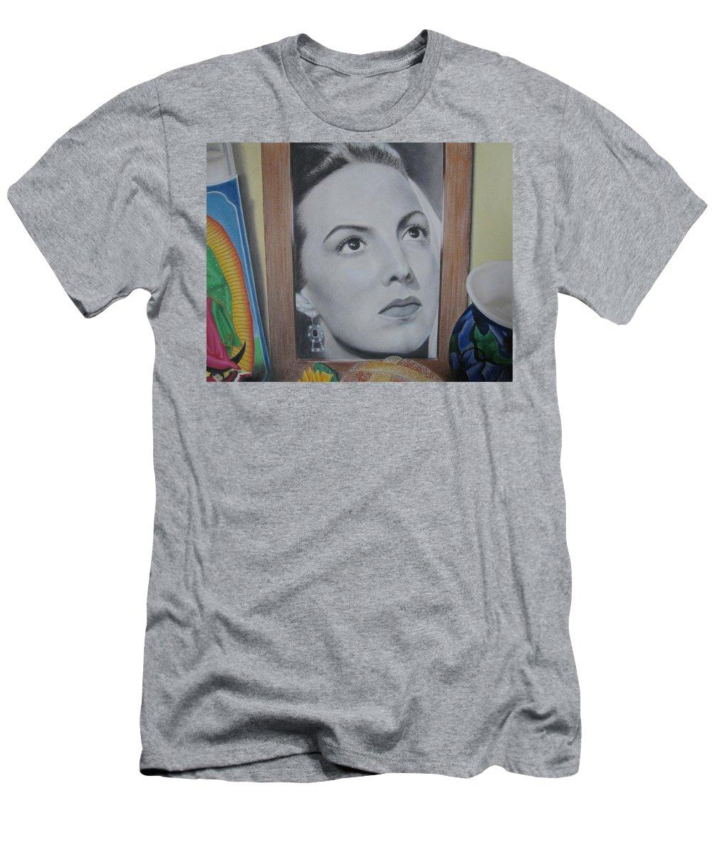 Maria Felix Men's T-Shirt (Athletic Fit) featuring the painting Maria Bonita by Lynet McDonald