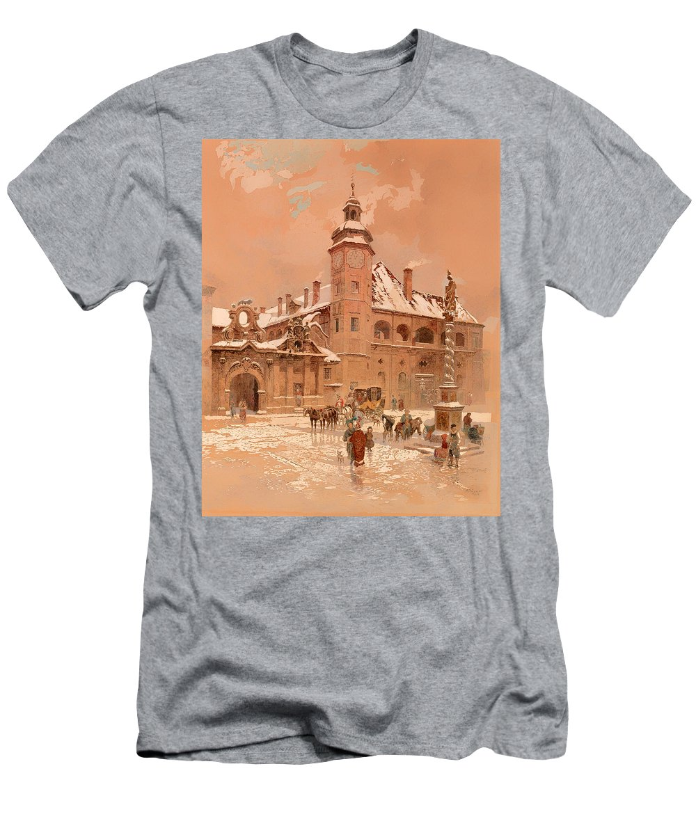 Painting Men's T-Shirt (Athletic Fit) featuring the painting Maribor by Mountain Dreams