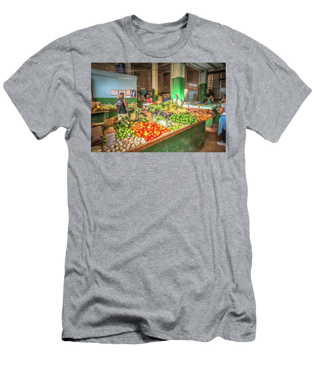Havana Men's T-Shirt (Athletic Fit) featuring the photograph Market by Bill Howard