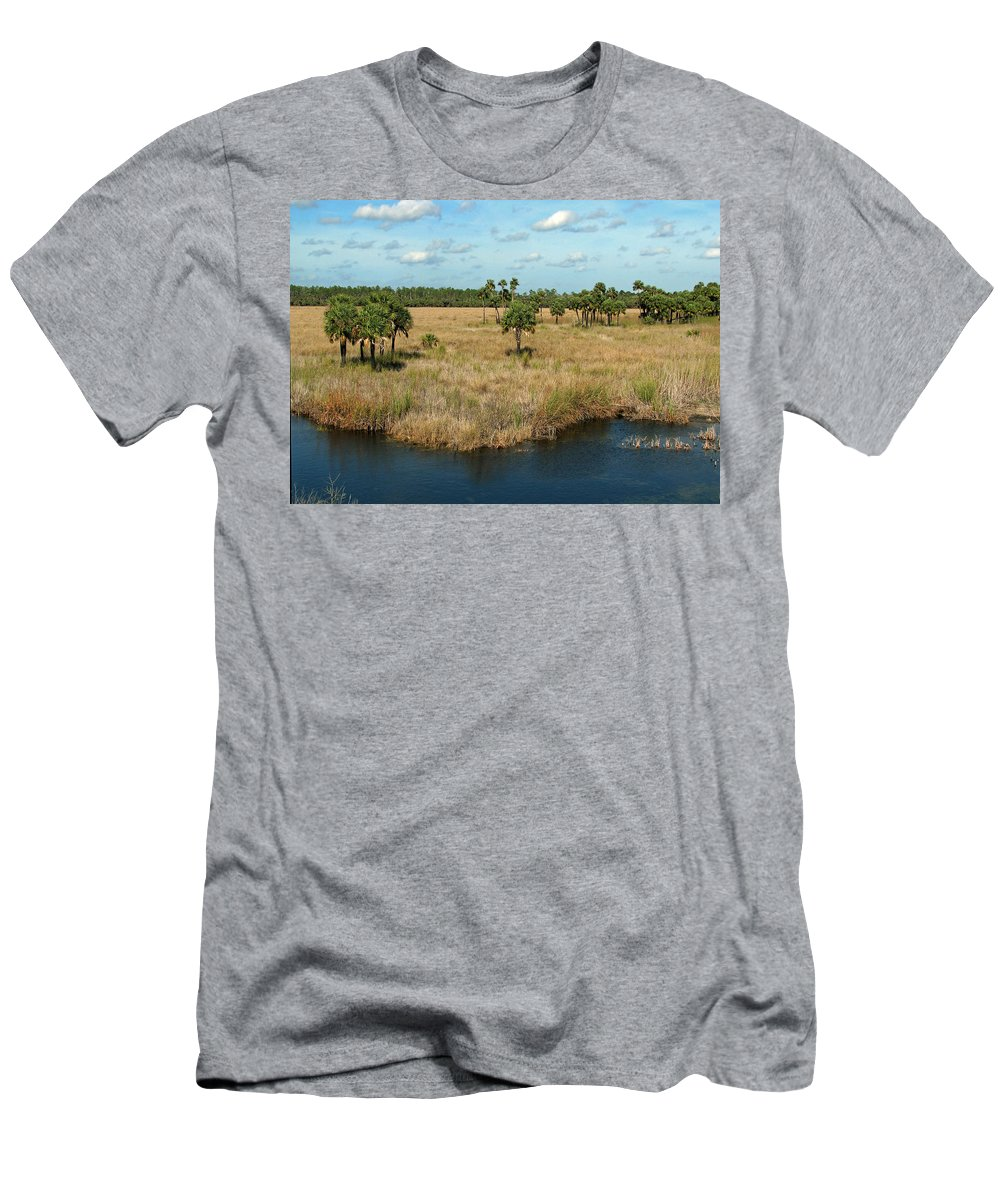 Nature Men's T-Shirt (Athletic Fit) featuring the photograph Marshland by Peg Urban