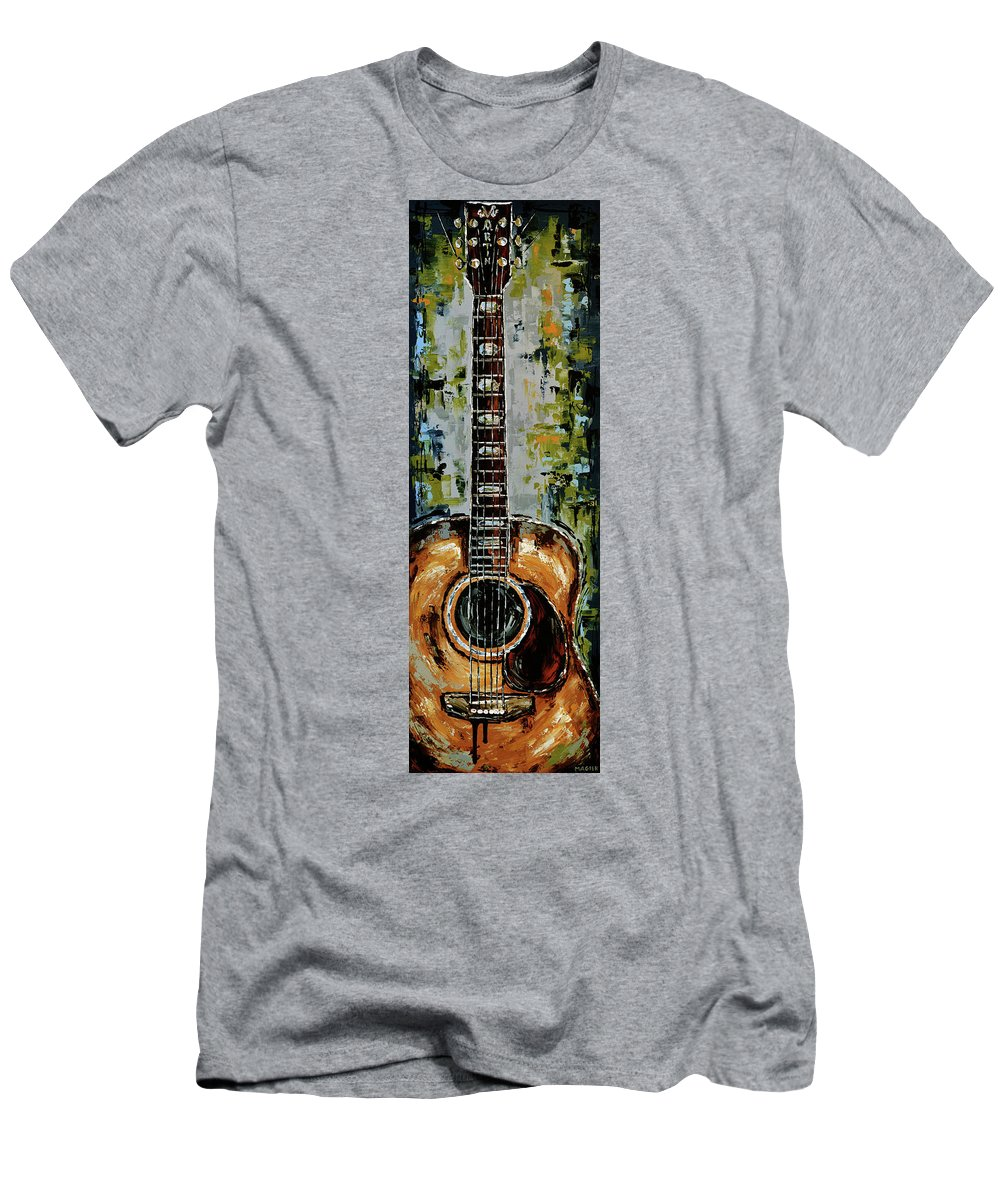 Guitar T-Shirt featuring the painting Martin by Magda Magier