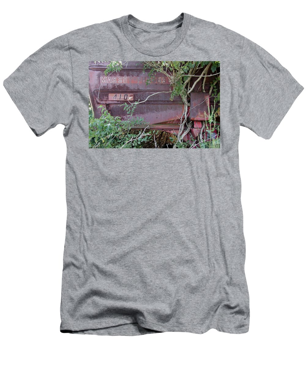 Massey Furguson Men's T-Shirt (Athletic Fit) featuring the photograph Massey - Under Seige by D'Arcy Evans