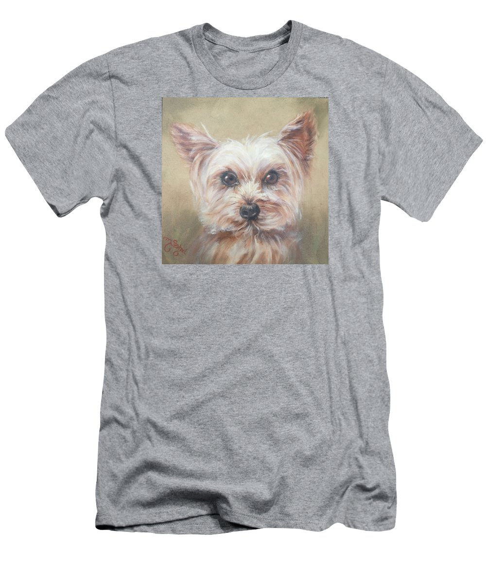 Max Men's T-Shirt (Athletic Fit) featuring the painting Max by Marcia Stoetzel