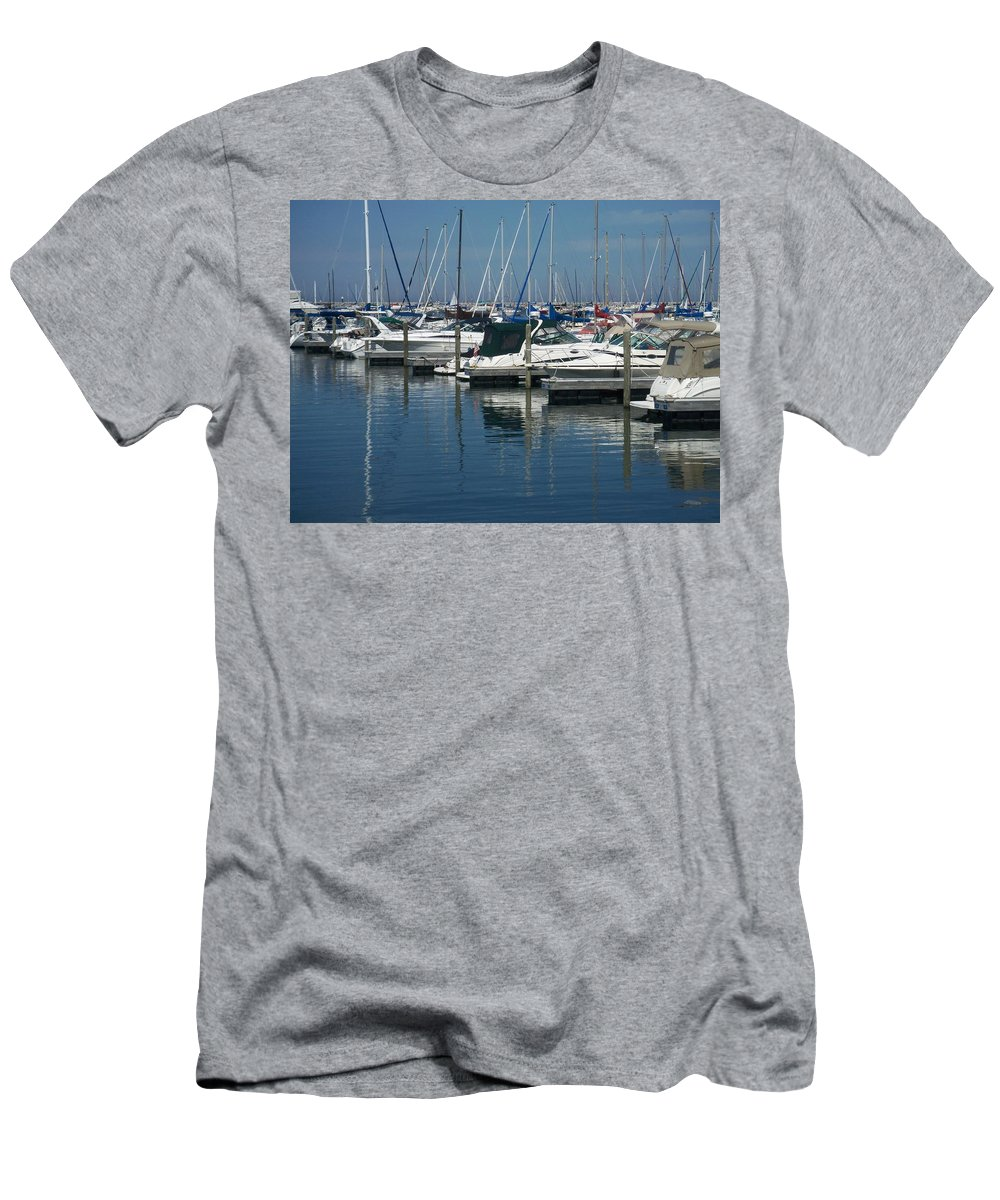 Mckinley Marina Men's T-Shirt (Athletic Fit) featuring the photograph Mckinley Marina 2 by Anita Burgermeister