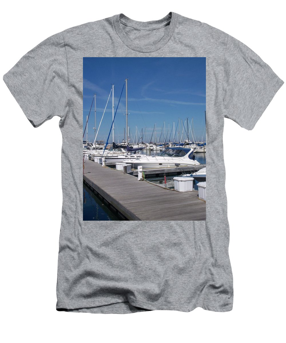 Mckinley Marina Men's T-Shirt (Athletic Fit) featuring the photograph Mckinley Marina 6 by Anita Burgermeister
