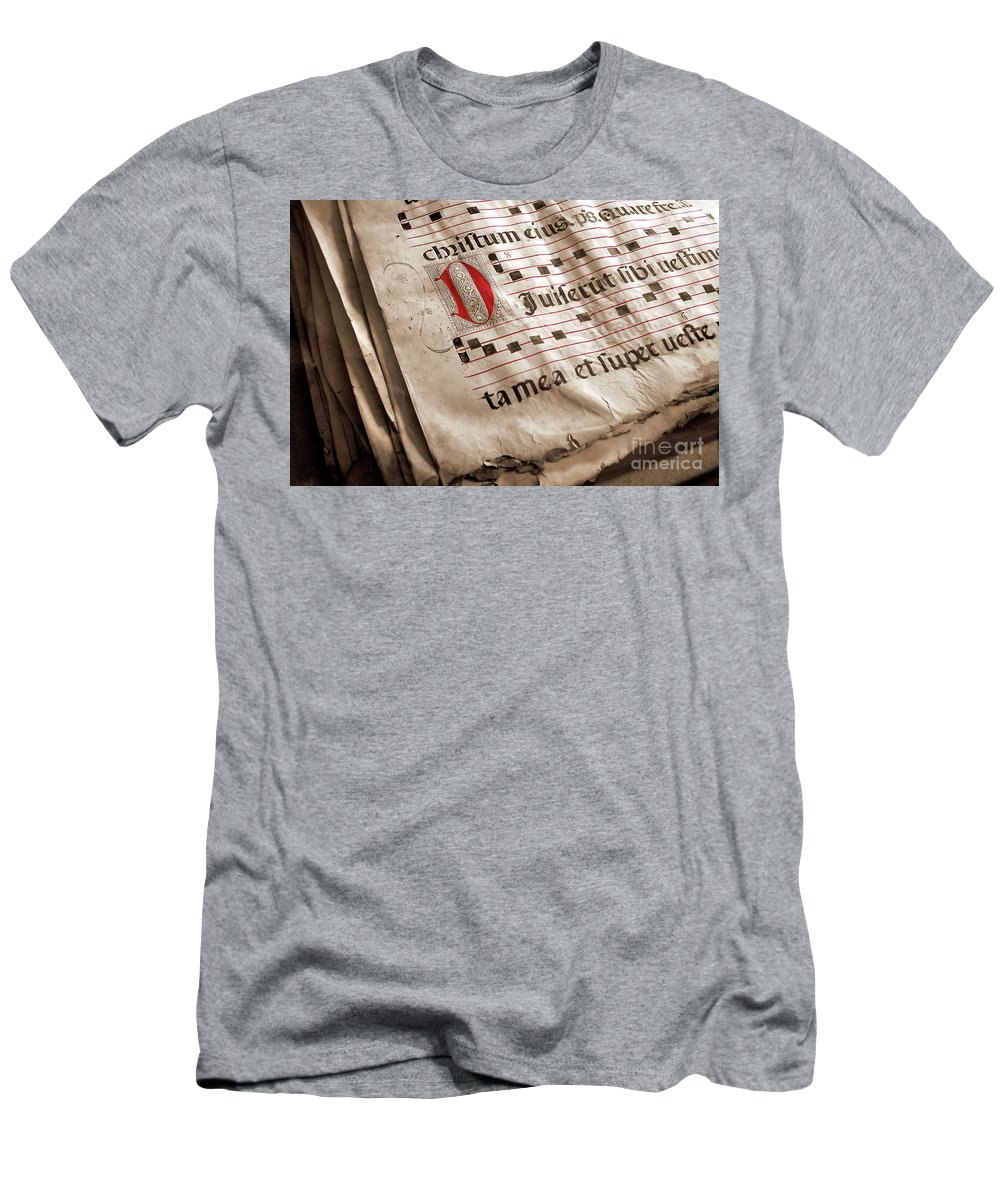 Aged Men's T-Shirt (Athletic Fit) featuring the photograph Medieval Choir Book by Carlos Caetano