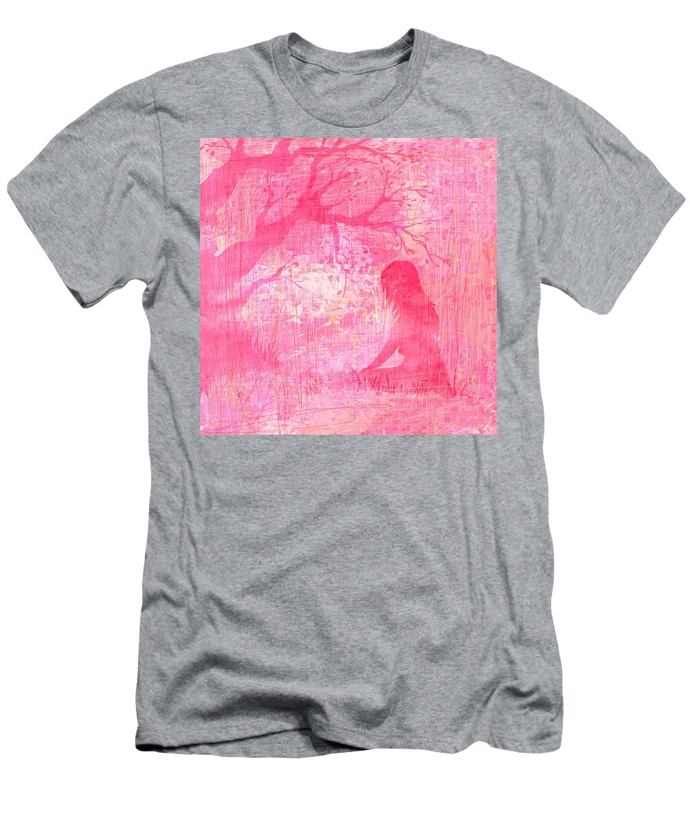 Abstract Men's T-Shirt (Athletic Fit) featuring the digital art Meditation by Rachel Christine Nowicki
