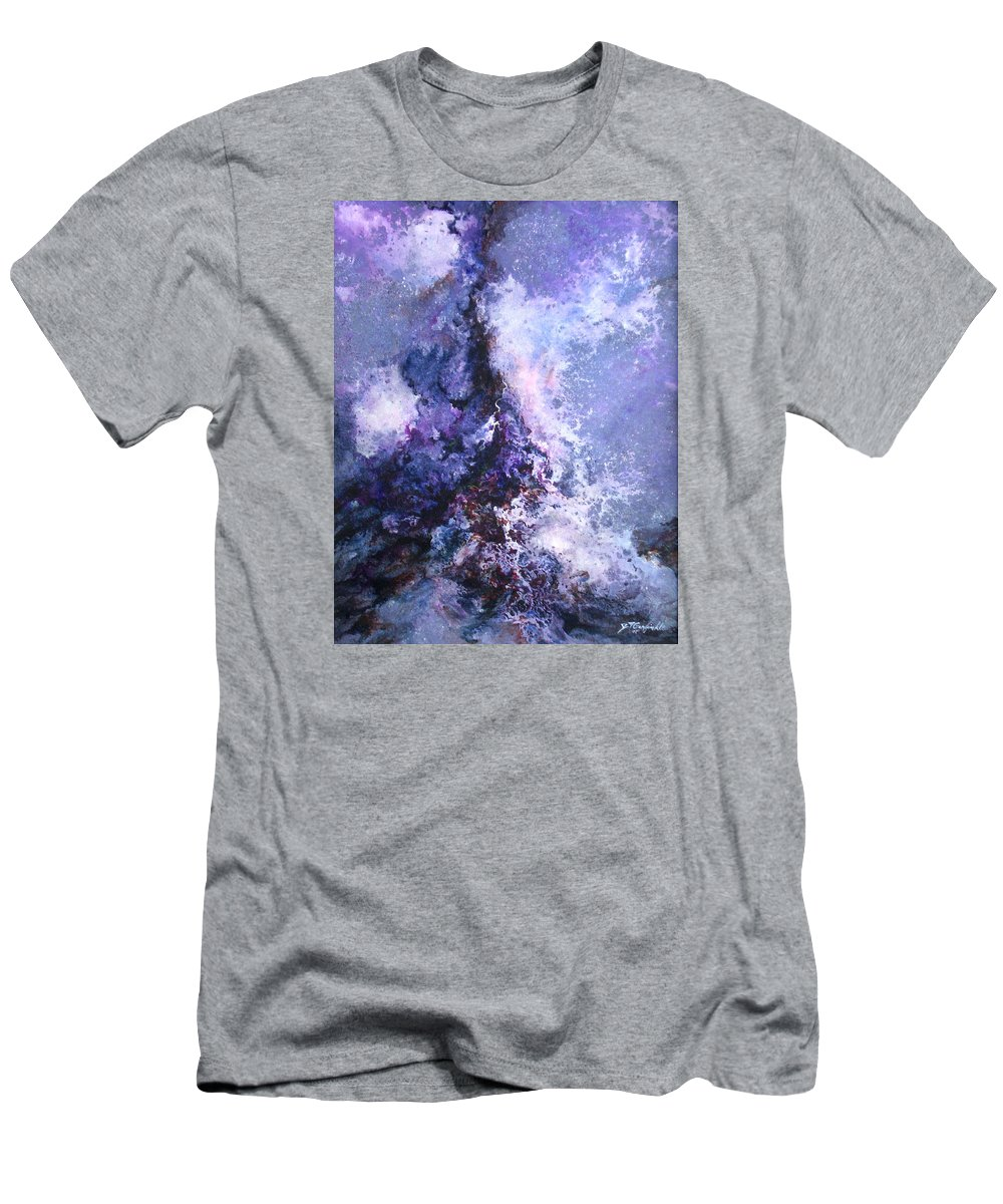 Art Men's T-Shirt (Athletic Fit) featuring the painting Meltdown by Jay Garfinkle