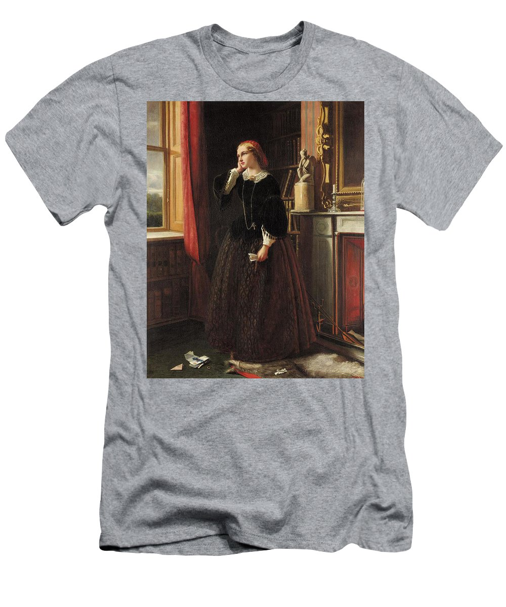 Walter Field - Men Were Deceivers Ever 1859 Men's T-Shirt (Athletic Fit) featuring the painting Men Were Deceivers Ever by MotionAge Designs