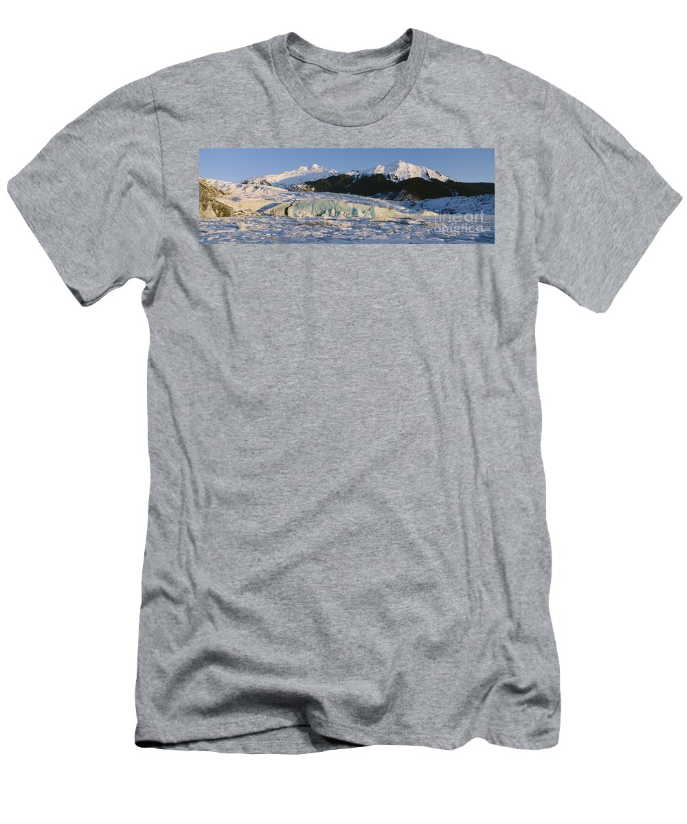 Beautiful Men's T-Shirt (Athletic Fit) featuring the photograph Mendenhall Glacier by John Hyde - Printscapes
