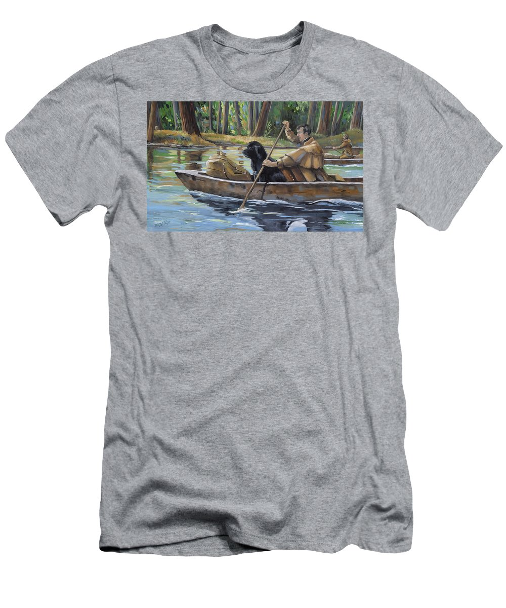 Lewis Meriwether T-Shirt featuring the painting Meriwether by Paula McHugh