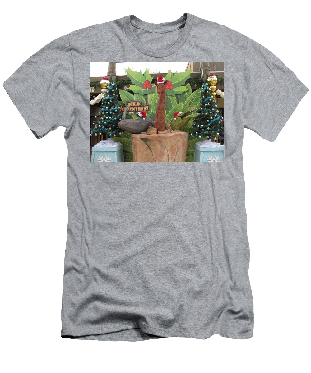 Men's T-Shirt (Athletic Fit) featuring the photograph Merry Christmas - Wild Adventures by Marsanne Petty