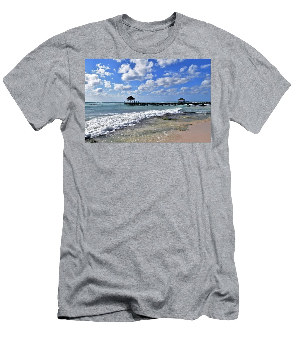 Mexico Men's T-Shirt (Athletic Fit) featuring the photograph Mexico Beaches by Christina McNee-Geiger