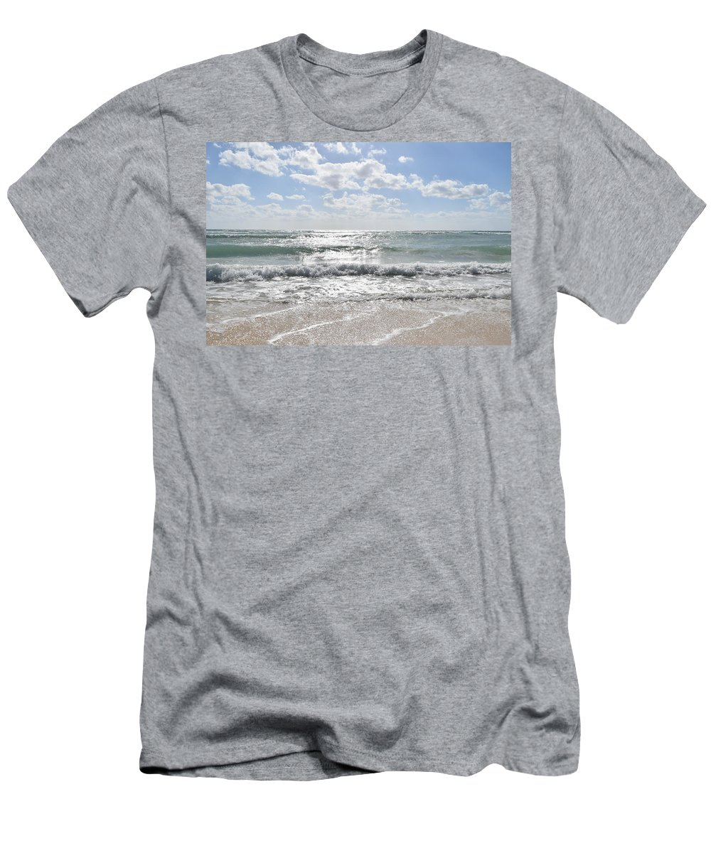 Ocean Men's T-Shirt (Athletic Fit) featuring the photograph Mexico Sun by Christina McNee-Geiger