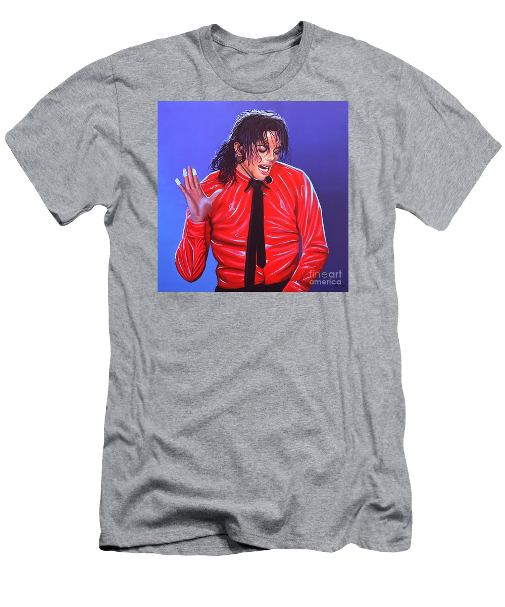 Michael Jackson T-Shirt featuring the painting Michael Jackson 2 by Paul Meijering