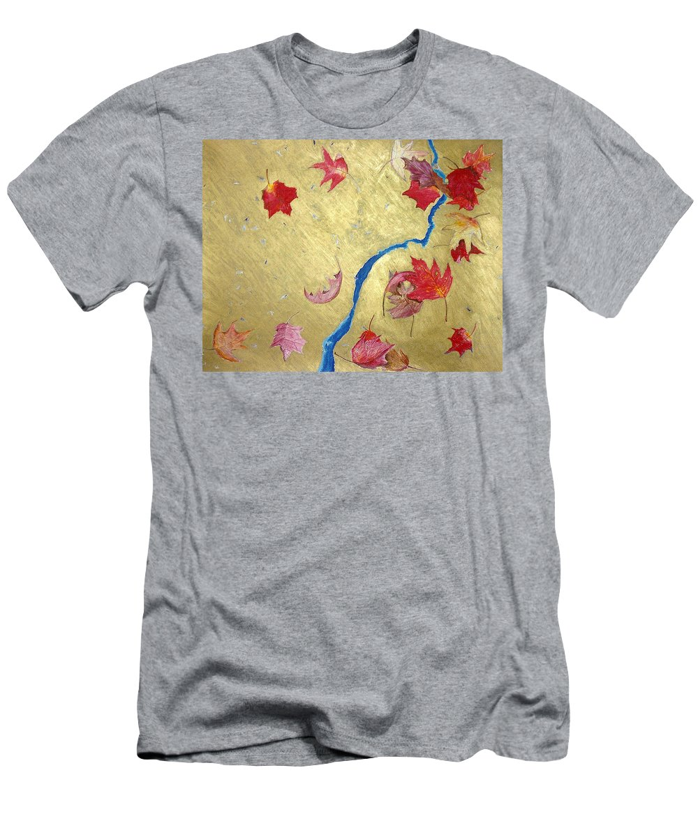 Abstract Men's T-Shirt (Athletic Fit) featuring the painting Midas Fall by Steve Karol