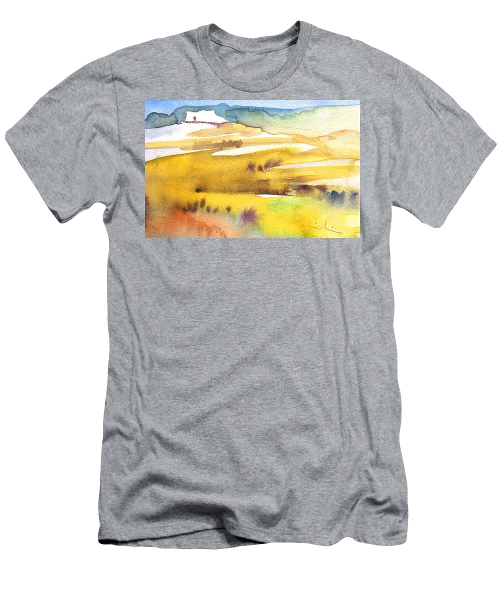 Landscapes Men's T-Shirt (Athletic Fit) featuring the painting Midday 16 by Miki De Goodaboom