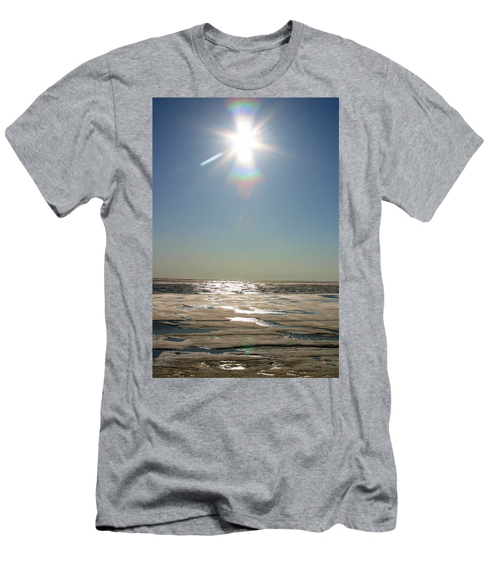 Arctic Men's T-Shirt (Athletic Fit) featuring the photograph Midnight Sun Over The Arctic by Anthony Jones