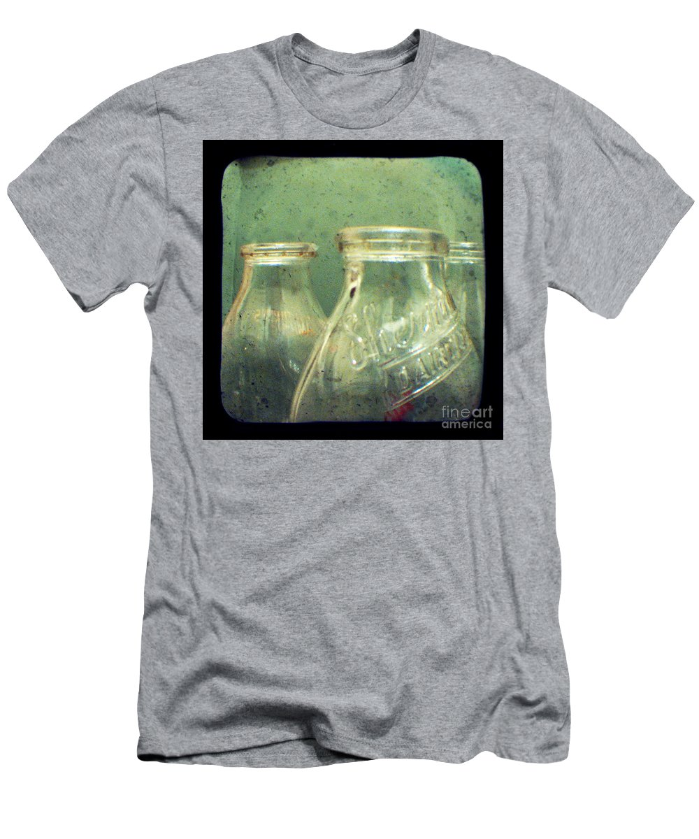 Ttv Men's T-Shirt (Athletic Fit) featuring the photograph Milk Bottles by Dana DiPasquale