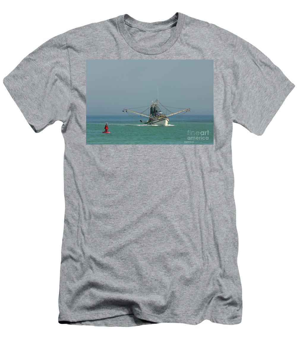 Fishing Boat Men's T-Shirt (Athletic Fit) featuring the photograph Miss Hazel by Deborah Benoit