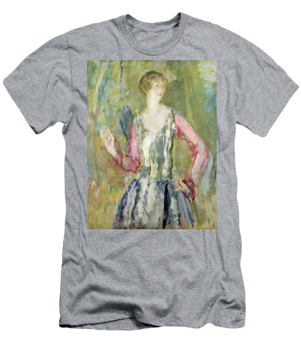Miss Men's T-Shirt (Athletic Fit) featuring the painting Miss Nancy Cunard by Ambrose McEvoy