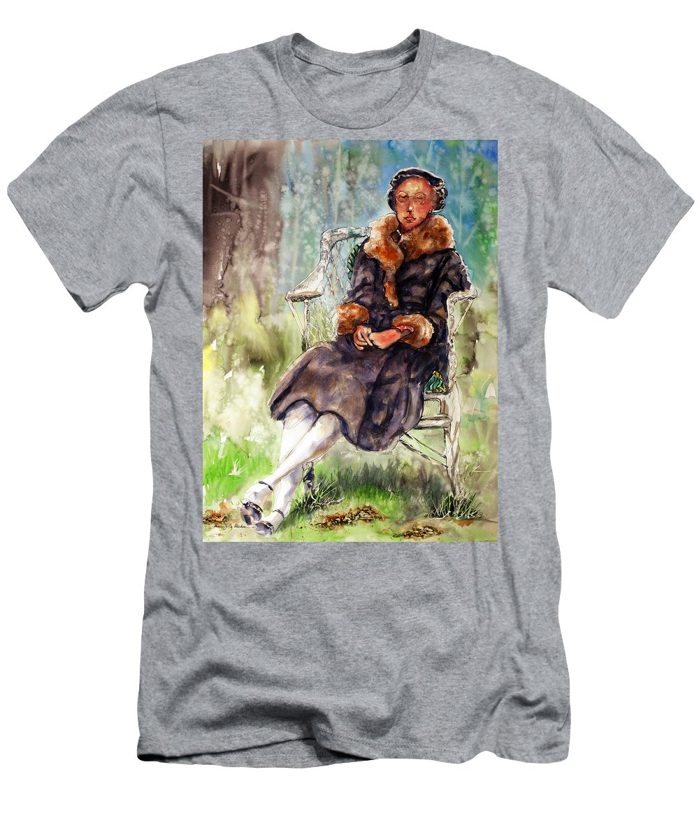 Woman Men's T-Shirt (Athletic Fit) featuring the painting Miss Olivia by Shirley Sykes Bracken