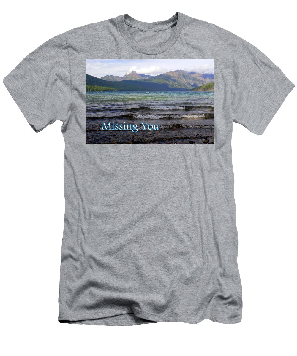 Greeting Card Men's T-Shirt (Athletic Fit) featuring the greeting card Missing You 1 by Marty Koch