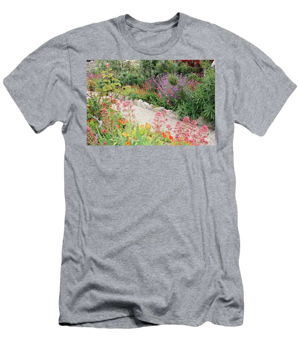 Garden Men's T-Shirt (Athletic Fit) featuring the photograph Mission Garden by Carol Groenen