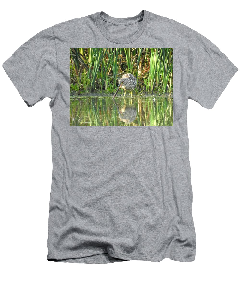 Bittern Men's T-Shirt (Athletic Fit) featuring the photograph Mistaken Identity by Betty-Anne McDonald