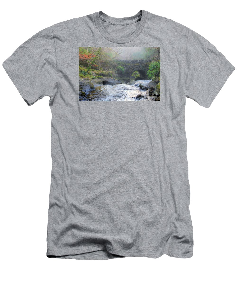 Mist Men's T-Shirt (Athletic Fit) featuring the photograph Misty Morning by Amy Sorvillo