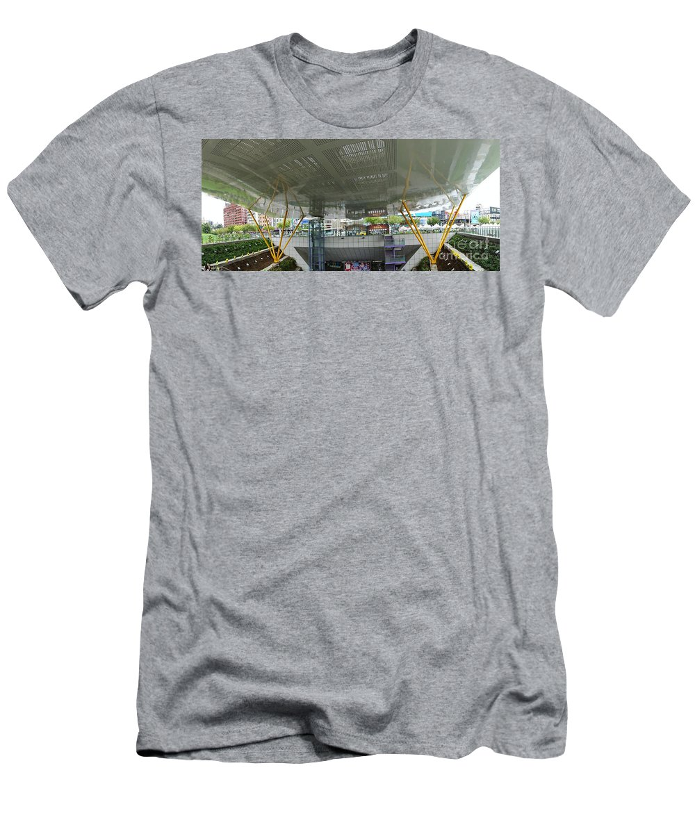 Taiwan Men's T-Shirt (Athletic Fit) featuring the photograph Modern Subway Station Design In Taiwan by Yali Shi