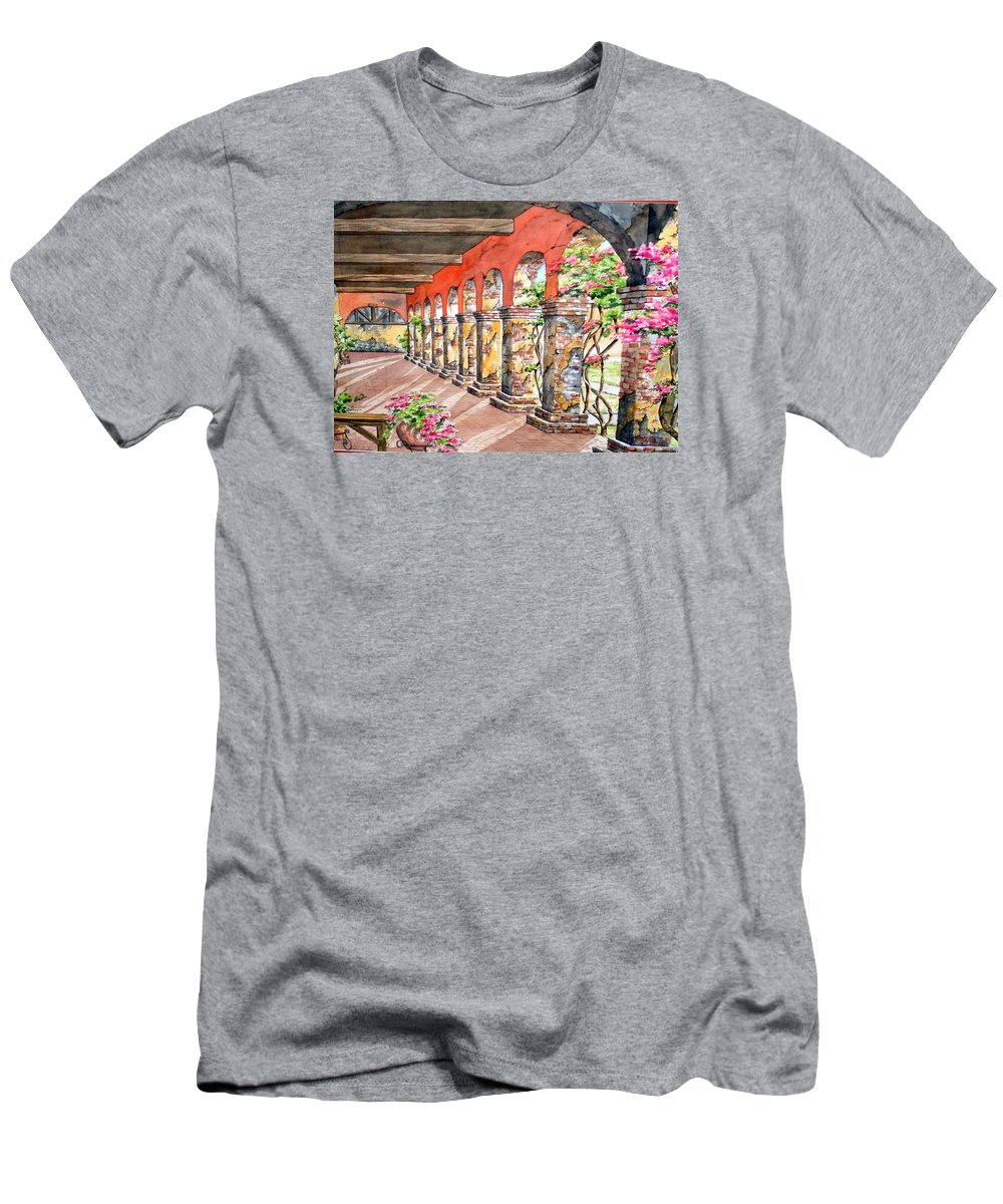 Landscape Men's T-Shirt (Athletic Fit) featuring the painting Monasterio by Tatiana Escobar