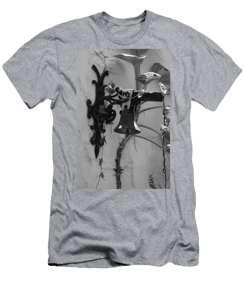 Black And White Men's T-Shirt (Athletic Fit) featuring the photograph Monastery Bell by Rob Hans
