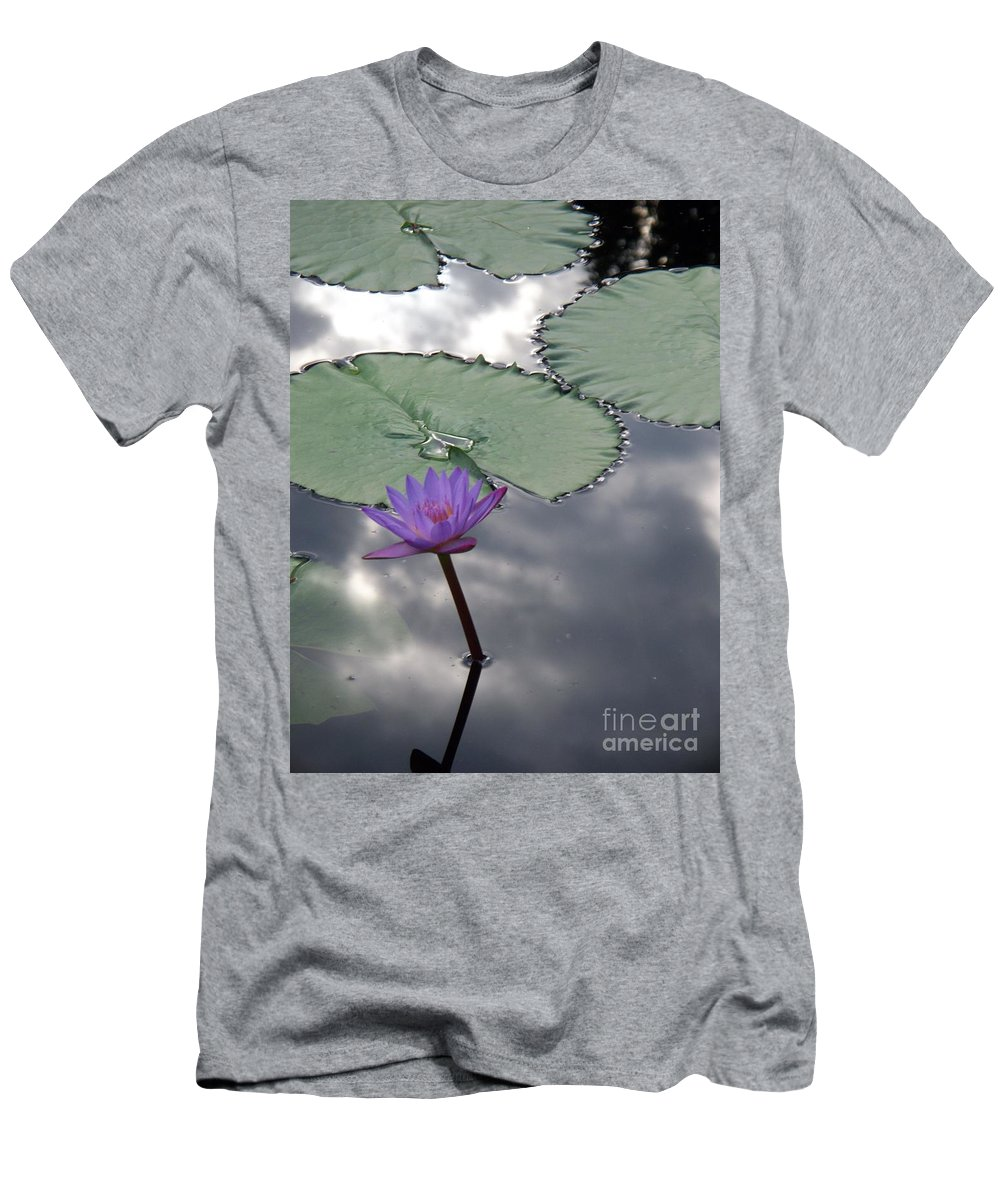 Photograph Men's T-Shirt (Athletic Fit) featuring the photograph Monet Lily Pond Reflection by Eric Schiabor