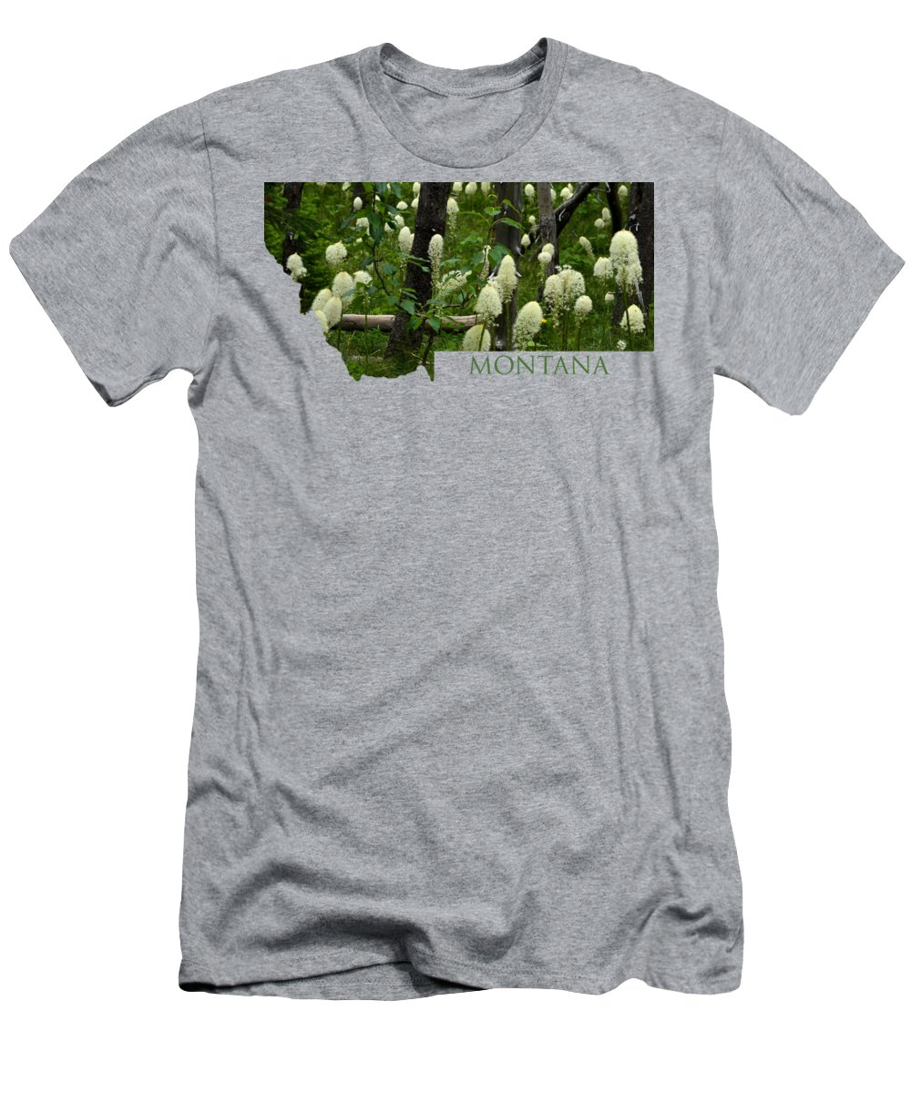 Montana Men's T-Shirt (Athletic Fit) featuring the photograph Montana Bear Grass by Whispering Peaks Photography