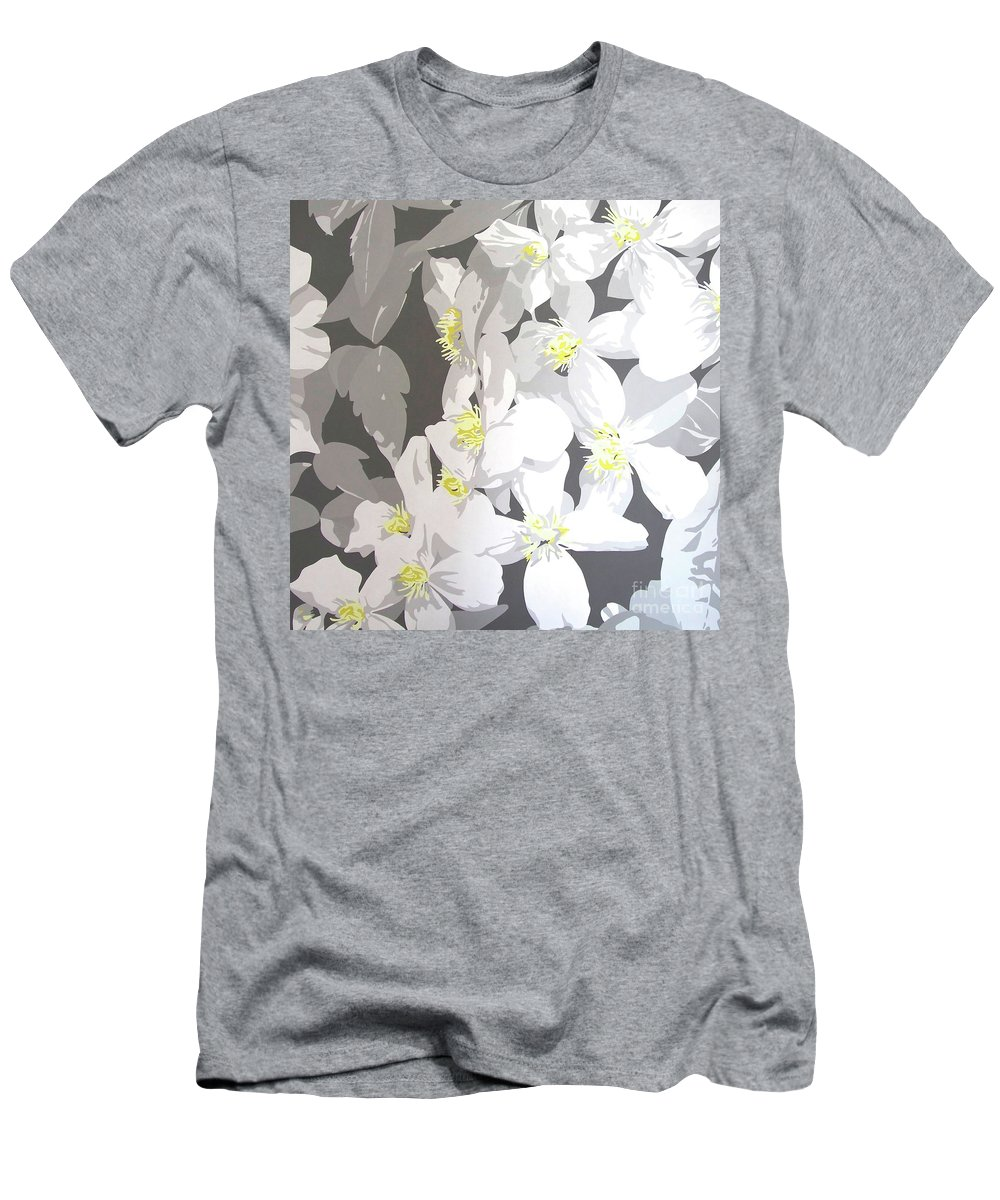Clematis Men's T-Shirt (Athletic Fit) featuring the painting Montana by Susan Porter
