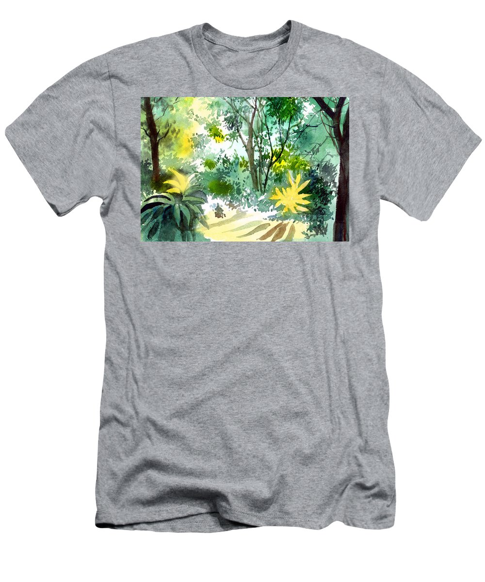 Landscape Men's T-Shirt (Athletic Fit) featuring the painting Morning Glory by Anil Nene