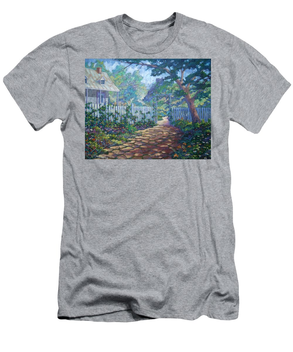 Painter Art Men's T-Shirt (Athletic Fit) featuring the painting Morning Glory by Richard T Pranke