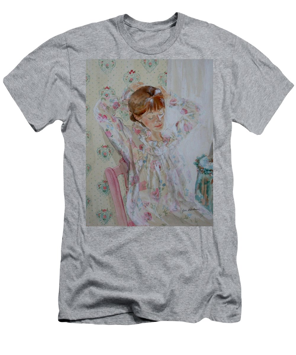 Morning Men's T-Shirt (Athletic Fit) featuring the painting Morning Ritual by Jean Blackmer