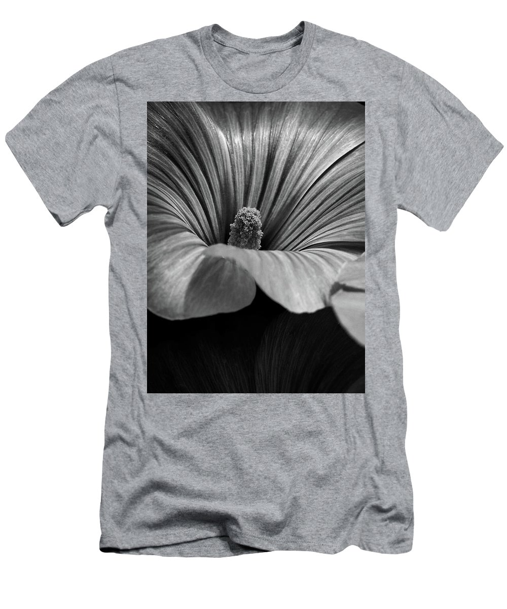 Abstract Men's T-Shirt (Athletic Fit) featuring the photograph Morning Rose Mallow by Bob Orsillo