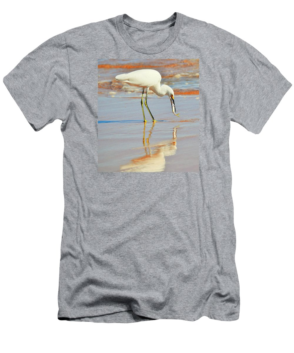 Bird Men's T-Shirt (Athletic Fit) featuring the photograph Morning Walk 5 by Maricel Barber
